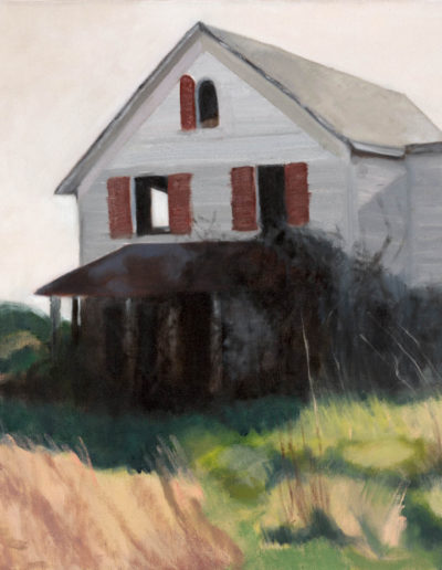 "Please Go Around the Back, 2008 | 18"" x 24"", Oil on Canvas"