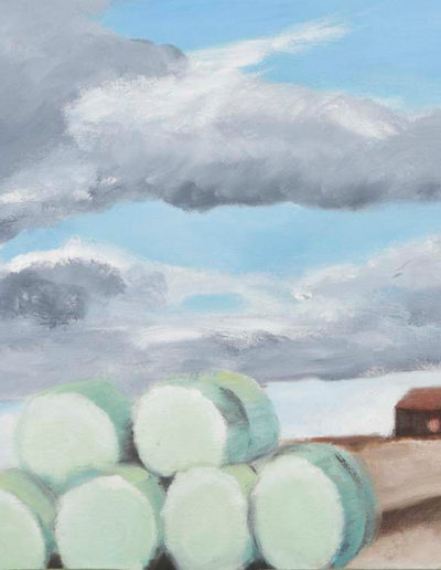 """Blue Hay Bales, 2005 