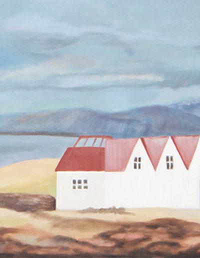 "Towards Keflavik, 2005 | 24x36"" Oil on Canvas"