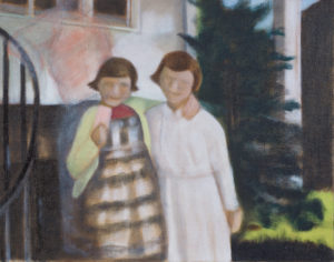 "Chrissey & Sara, 2011 | 11"" x 14"", Oil on Panel"