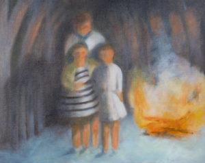 "Bonfire | 16"" x 20"", Oil on Panel"