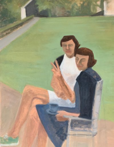 Evelyn and Marge, 2020 | 24x18 Oil on canvas