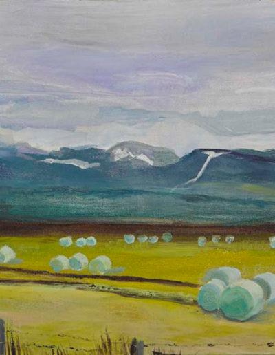 "Icelandic Haybales, 2003 | 12"" x 16"" Oil on Canvas"