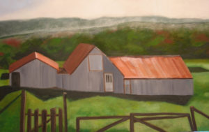 "Icelandic Sheep Barn IV, 2007 | 24"" x 48"" Oil on Canvas"