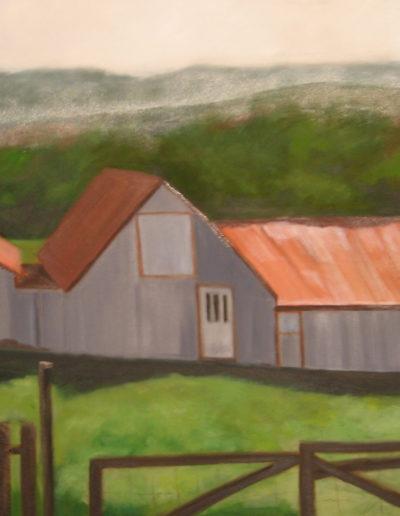 "Icelandic Sheep Barn IV, 2007 | 24"" x 48"" Oil on Canvas"