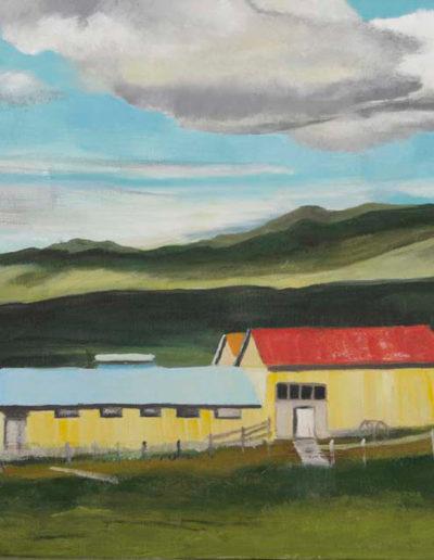 "Jon and Eline's Horse Barns, 2003 | 20"" x 24"" Oil on Canvas"