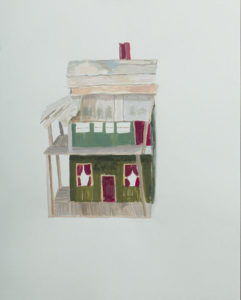 "Junk House, 2014 | 24"" x18"" Mixed Media"
