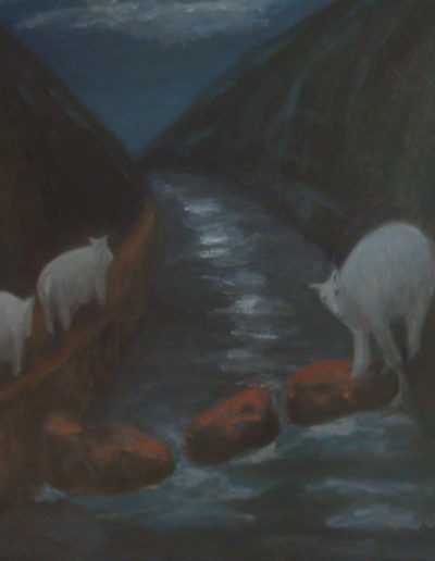 "Night Wandering, 2009 | 24"" x 30"" Oil on Canvas"