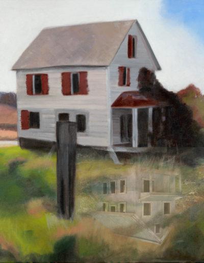 "Self Reflection, 2008 | 16"" x 16"", Mixed-Media Iris Print"